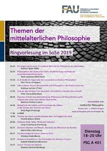 Veranstaltungsplakat Mittelalterliche Philosophie