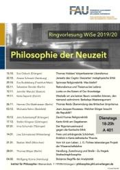Veranstaltungsplakat Philosophie der Neuzeit