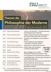 Veranstaltungsplakat Philosophie der Moderne